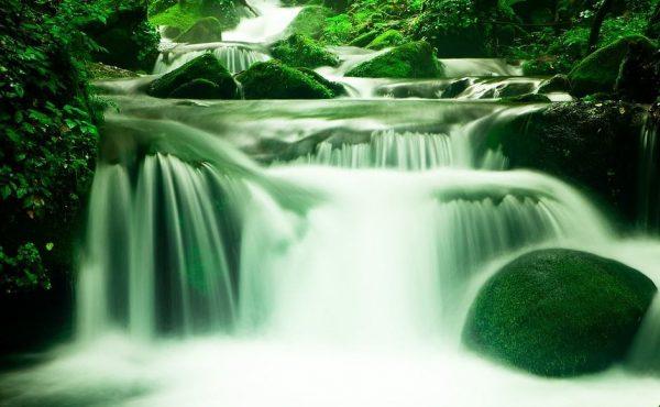 waterfall in nature setting